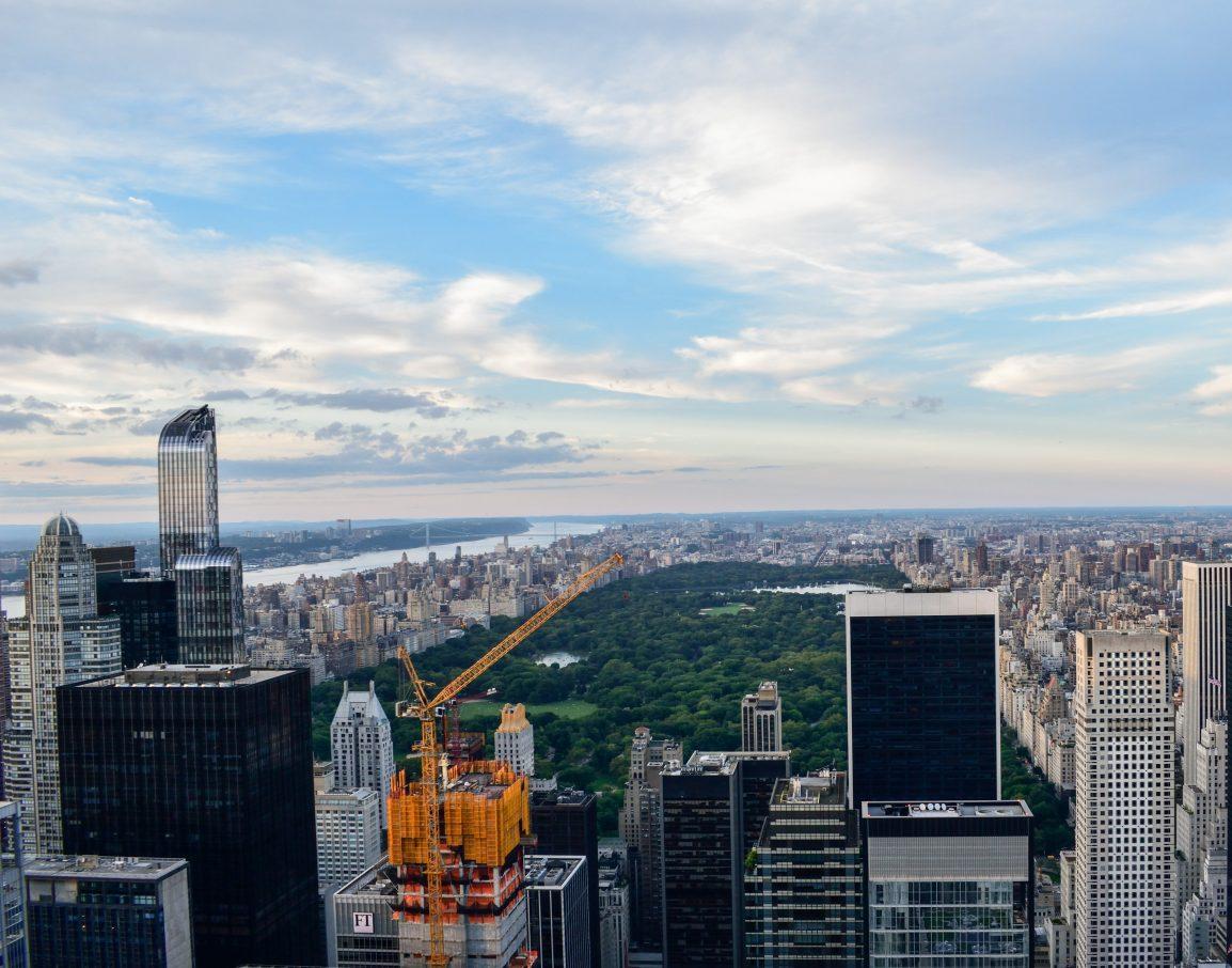 Agosto a New York vista dall'alto del Central Park