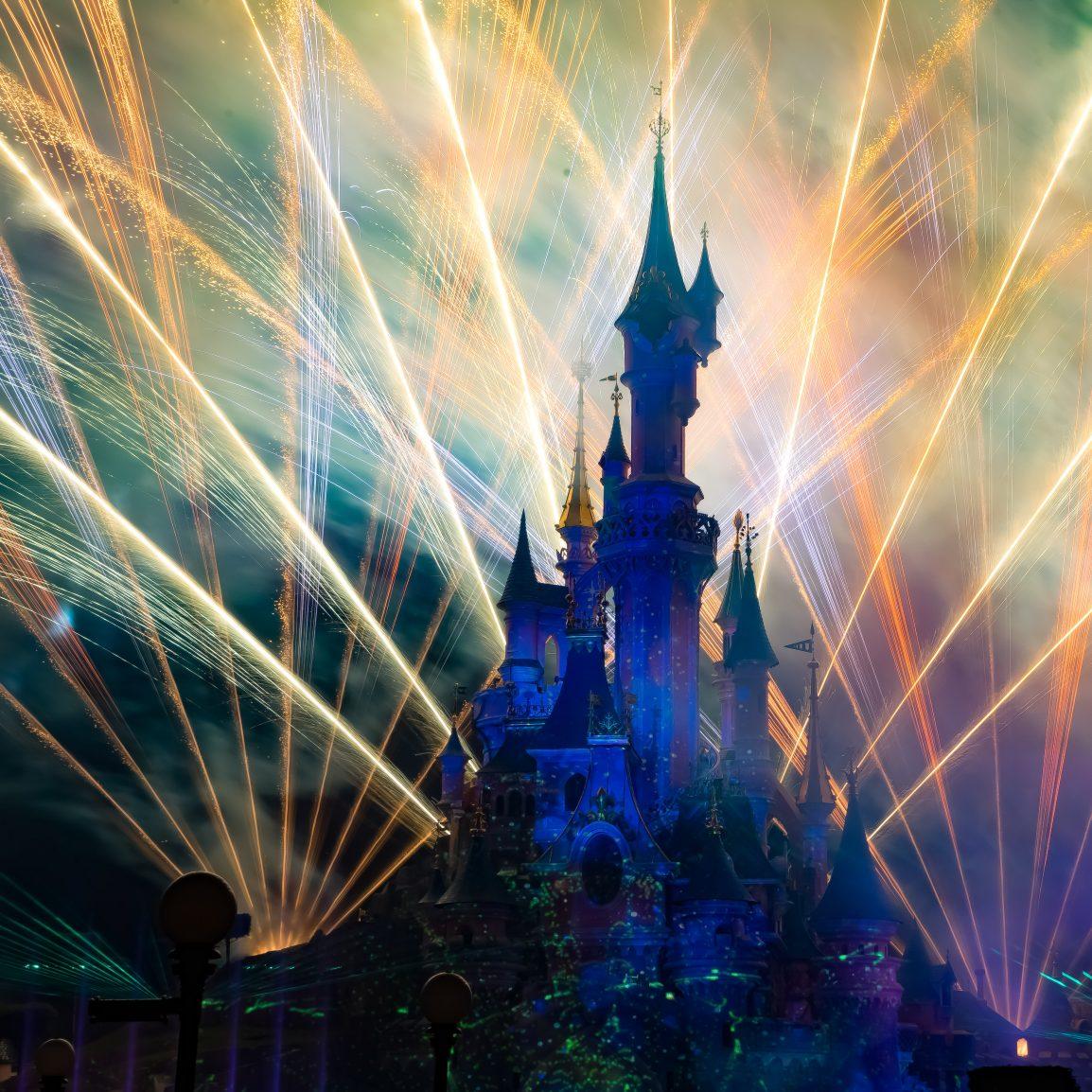 fuochi d'artificio a disneyland